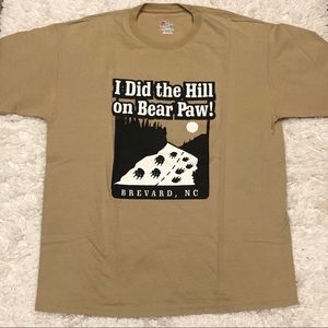 Hanes Bear Paw Brevard NC Shirt Brown Size Large